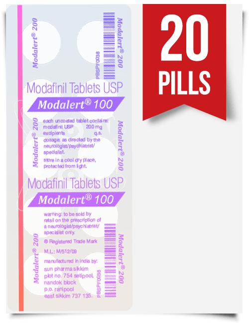 Modalert 100 mg x 20 Tablets