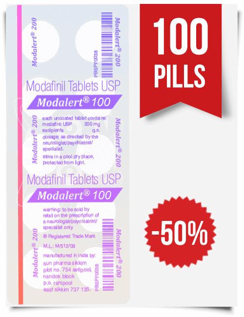Modalert 100 mg 100 tablets