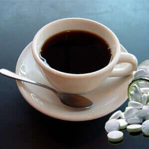 Waklert pills and coffee