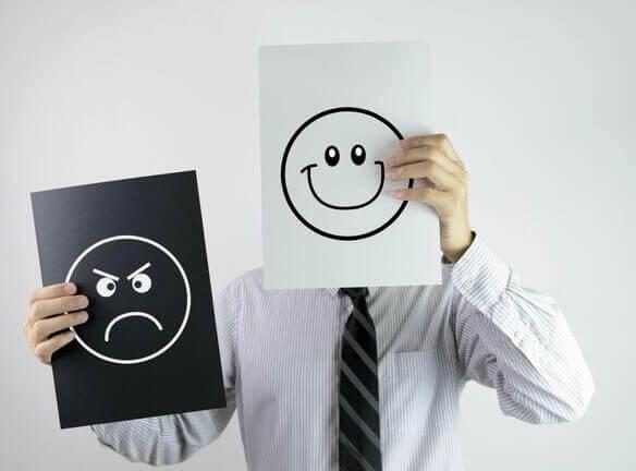 Mood change of man