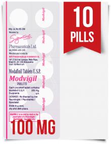 Modvigil 100 mg x 10 Modafinil Pills