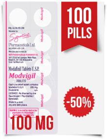 Modvigil 100 mg x 100 Modafinil Pills