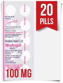 Modvigil 100 mg x 20 Modafinil Pills