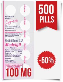 Modvigil 100 mg x 500 Modafinil Pills