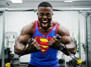 Man is training