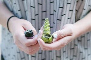 Smoking marijuana pipe