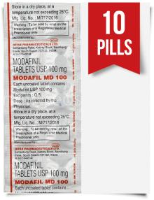 Order Modafil MD 100mg Indian Modafinil 10 Tabs at ModafinilXL Pharmacy Online