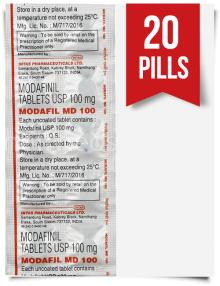 Order Modafil MD 100mg Indian Modafinil 20 Tabs at ModafinilXL Pharmacy Online