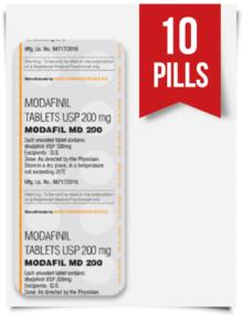 Buy Sublingual Modafil MD 200 mg 10 Pills