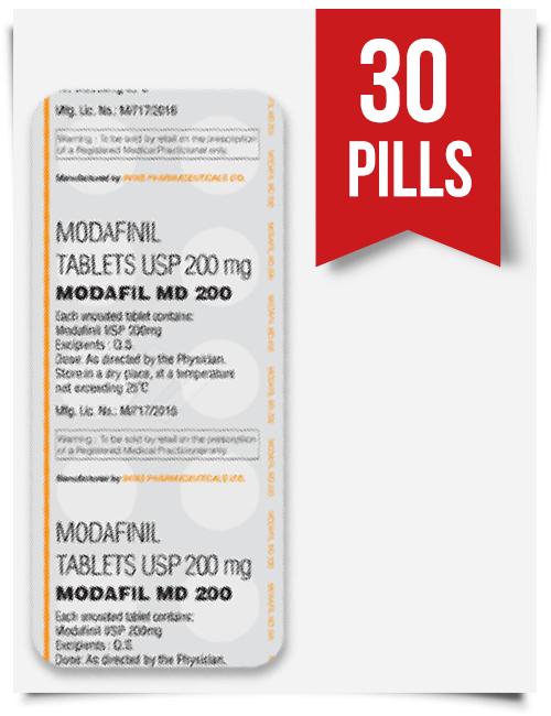 Buy Sublingual Modafil MD 200 mg 30 Pills