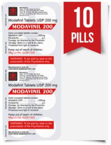 Modavinil 200 mg x 10 Pills