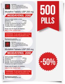 Modavinil 200 mg x 500 Pills
